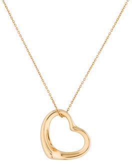 Tiffany & Co. 18K Open Heart Pendant Necklace $895 thestylecure.com