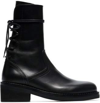 Ann Demeulemeester 50 lace-up leather boots