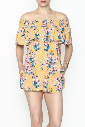 Cotton Candy Tropical Destiny Romper $45 thestylecure.com