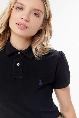 Urban Renewal Vintage Remade Puff Sleeve Polo Shirt