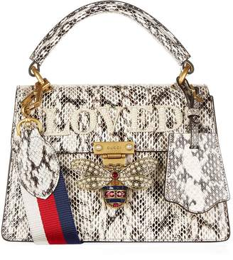 Gucci Small Snakeskin Queen Margaret Top Handle Bag