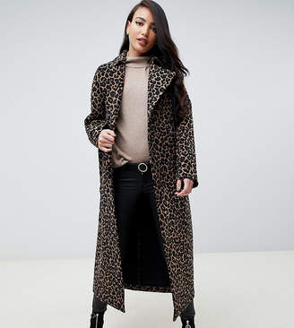 Asos Tall DESIGN Tall mac in animal print