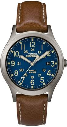 Timex Unisex Expedition Scout Brown Leather Strap Analog Watch