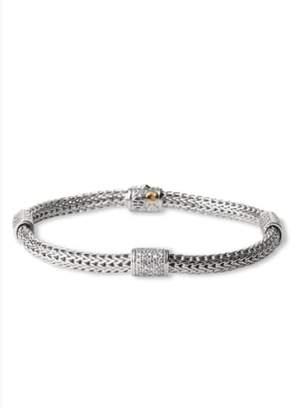 John Hardy 'Classic Chain' Pave Diamond Station Bracelet