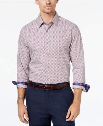 Tasso Elba Men's Geometric Print Shirt, Created for Macy's