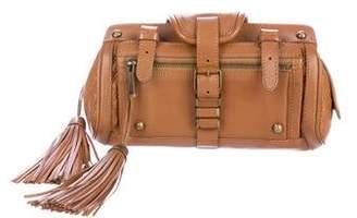 Zac Posen Tassel-Embellished Leather Clutch
