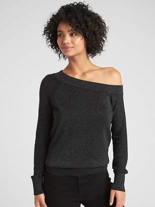 Gap Metallic One-Shoulder Pullover Sweater