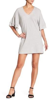 Lucky Brand Ruffle Sleeve Stripe Mini Dress