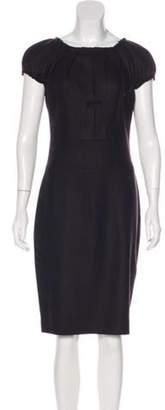 Sophie Theallet Wool Midi Dress Blue Wool Midi Dress