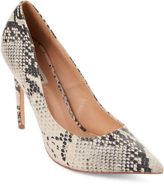 Steve Madden Poet Snake-Effect Pointed Toe Pumps