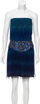 Jay Ahr Silk Strapless Dress