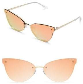 Quay Frameless 150MM Mirrored Cat Eye Sunglasses