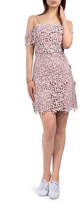 French Connection Fulaga Cold-Shoulder Floral Lace Dress