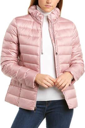 Via Spiga Ruffle Collar Packable Puffer Jacket