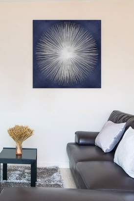 Silver Sunburst On Blue I by Abby Young Gallery-Wrapped Canvas Print