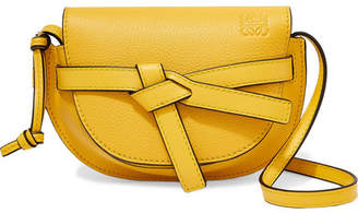 Loewe Gate Mini Textured-leather Shoulder Bag - Bright yellow