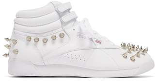 Junya Watanabe X Reebok Studded Leather High Top Trainers - Womens - White