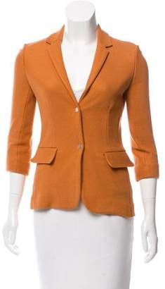 The Row Knit Notched-Lapel Blazer
