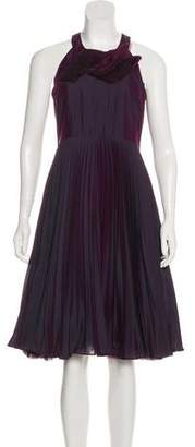 HUGO BOSS Boss by Pleated-Accented Midi Dress