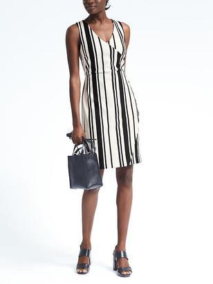 Stripe Knit Wrap-Effect Dress $138 thestylecure.com