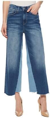 Mavi Jeans Elliot High-Rise Wide Leg Crop in Mid Shadow Women's Jeans