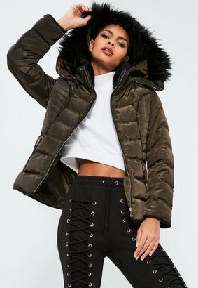 Khaki Pleated Padded Coat $81 thestylecure.com