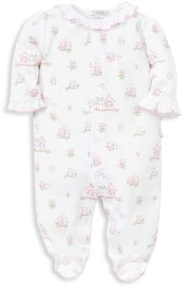 Kissy Kissy Baby Girl's Wonderfully Wise Owl Print Footie