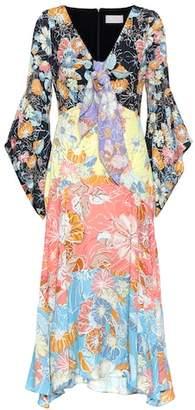 Peter Pilotto Floral-printed crêpe midi dress