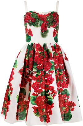 Dolce & Gabbana flared floral print dress