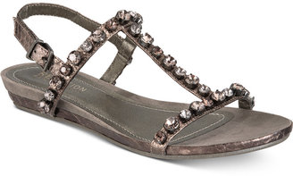Kenneth Cole Reaction Women's Lost Catch Embellished Wedge Sandals Women's Shoes $59 thestylecure.com