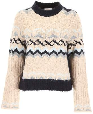 See by Chloe Pullover With Intarsia