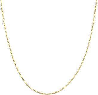 PRIVATE BRAND FINE JEWELRY Made in Italy 14K Yellow Gold 18 Box Chain Necklace