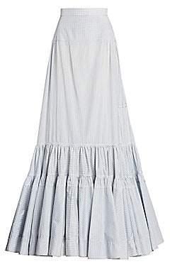 Calvin Klein Women's Grid Check Long Skirt