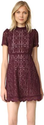 BB Dakota Adelina Mock Neck Lace Dress $112 thestylecure.com