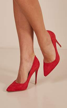 Showpo Billini - Rina heels in red micro - 10 Billini