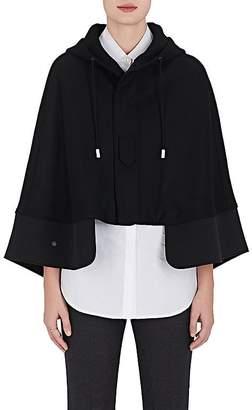 The RERACS Women's Wool Melton Short Hooded Cape