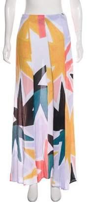 Mara Hoffman Crepe Star Print Skirt