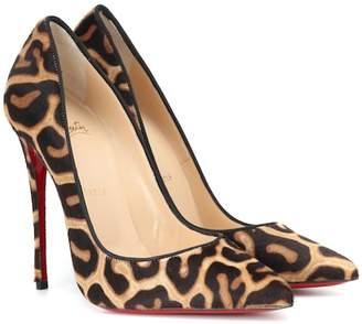 Christian Louboutin So Kate 120 calf hair pumps