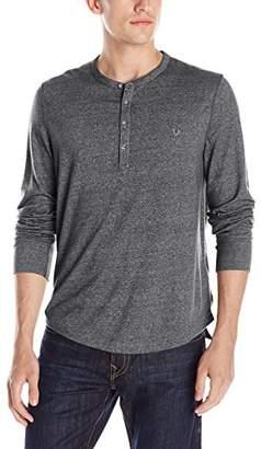 True Religion Men's Mock Twist Henley Long Sleeve Shirt