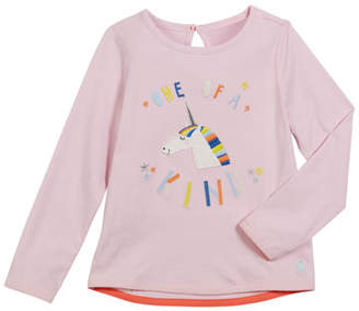Joules Ava One Of A Kind Unicorn Tee, Size 2-6