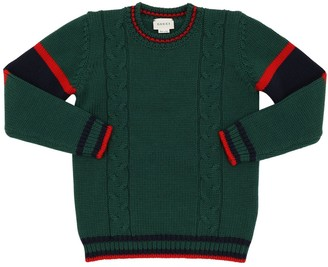 Gucci COTTON CABLE KNIT SWEATER