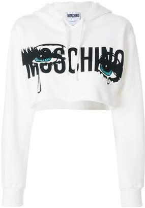 Moschino cropped eye hoodie