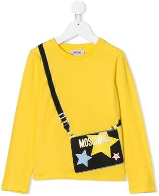Moschino Kids trompe l'oeil-print long sleeve T-shirt