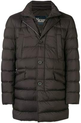 Herno padded straight fit jacket