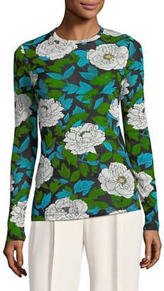 Diane von Furstenberg Floral Fitted Top