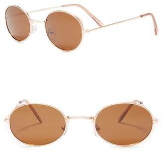 Joe's Jeans Polarized 48mm Round Sunglasses