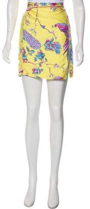Tibi Printed Mini Skirt