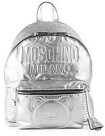 Moschino Women's Embossed Teddy Bear Logo Backpack