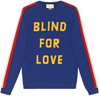 """Gucci """"Blind for Love"""" and tiger wool sweater"""