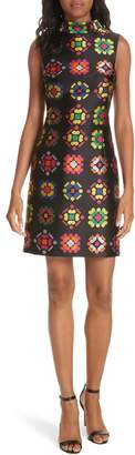 Milly Melinda Geometric Jacquard Sheath Dress